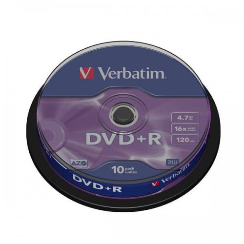 Disk Verbatim DVD+R 4,7GB, 16x, 10cake