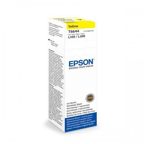 Inkoustová náplň Epson T6644, 70ml originální - žlutý