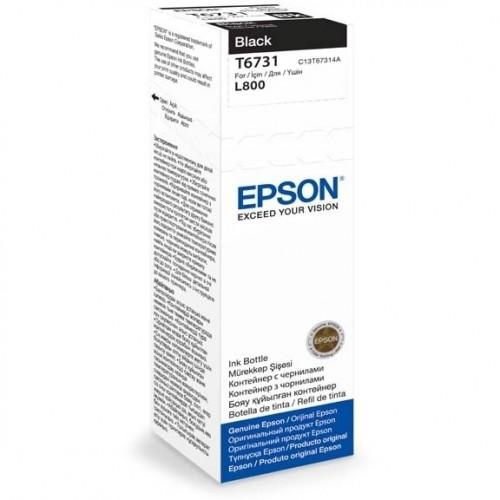 Inkoustová náplň Epson T6731, 70ml originální - černý